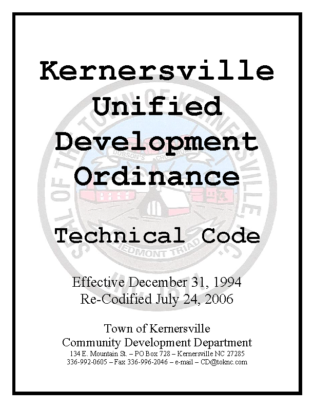 Unified Development Ordinance