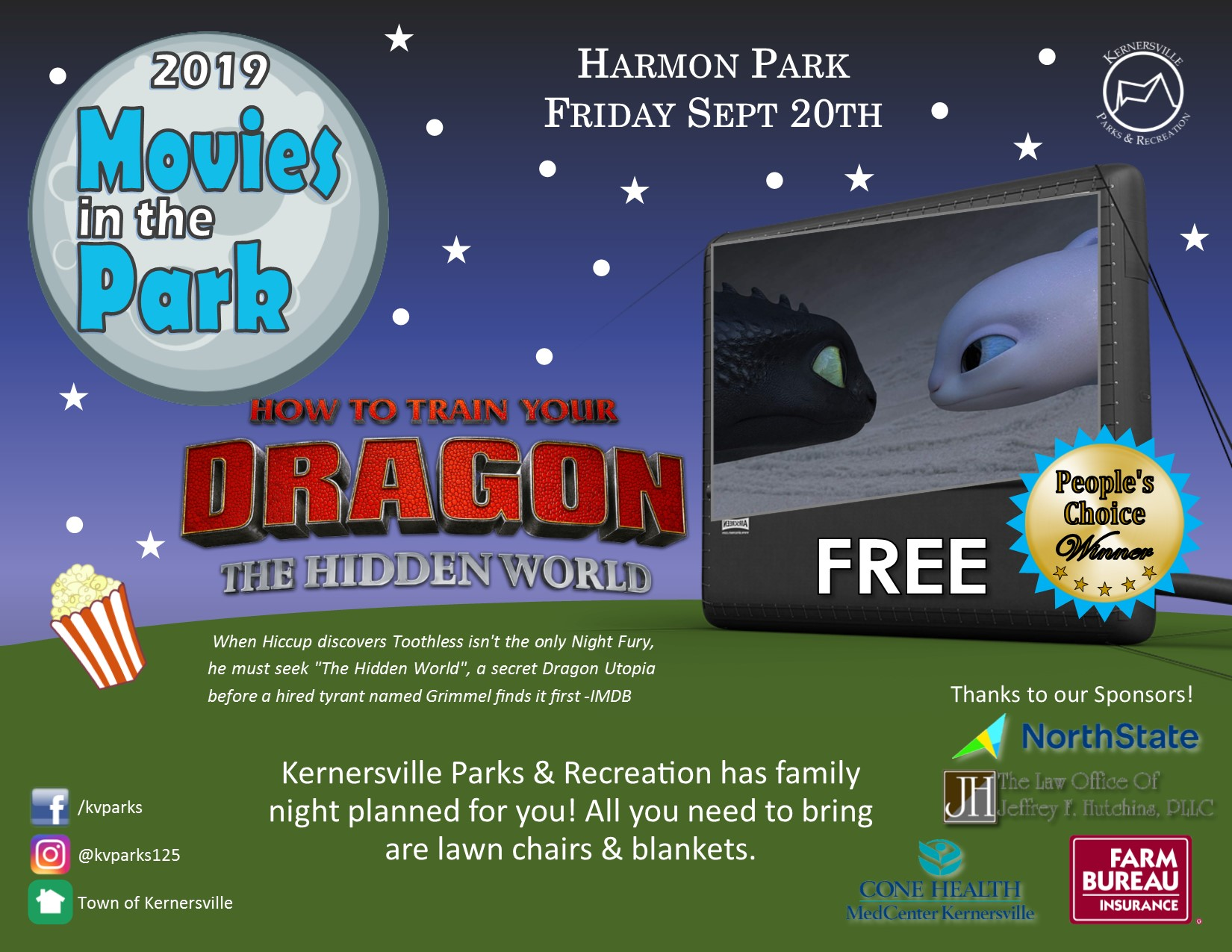 Movie in the Park – How to Train Your Dragon: The Hidden
