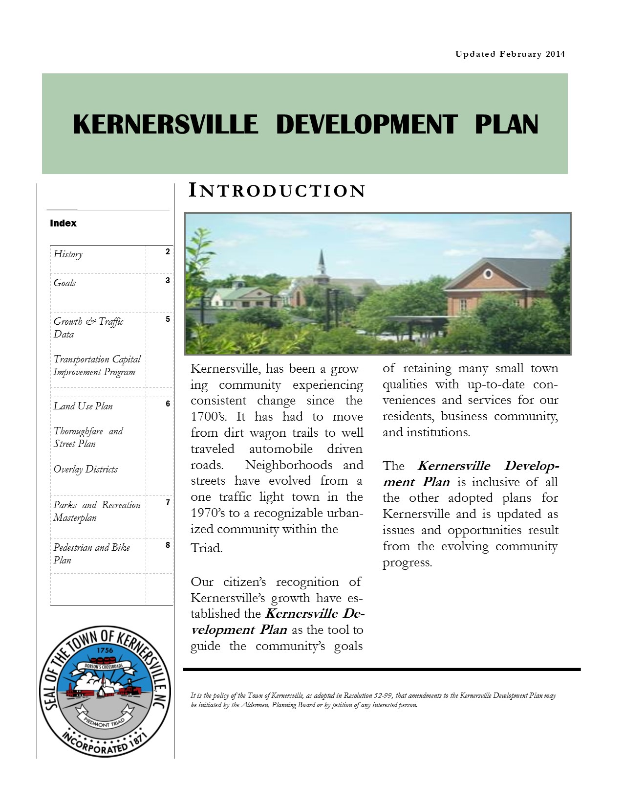Kernersville Development Plan